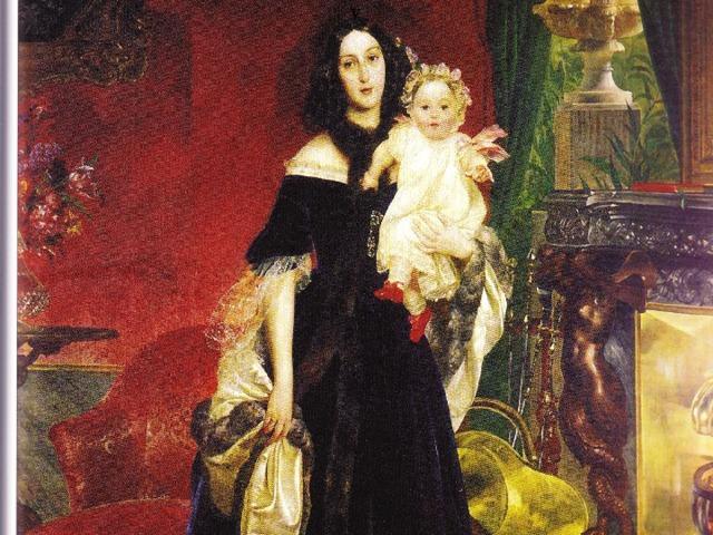 v  Семейная сцена в YL moauu . 1831