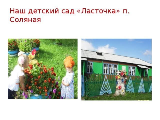 Наш детский сад «Ласточка» п. Соляная