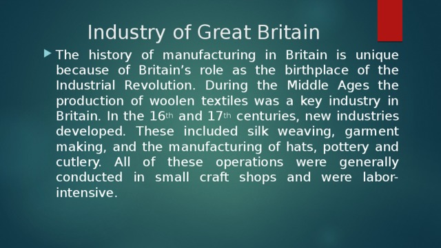 Industry of Great Britain