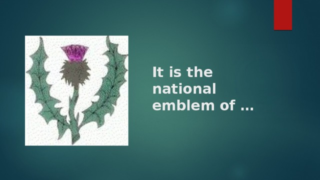It is the national emblem of …