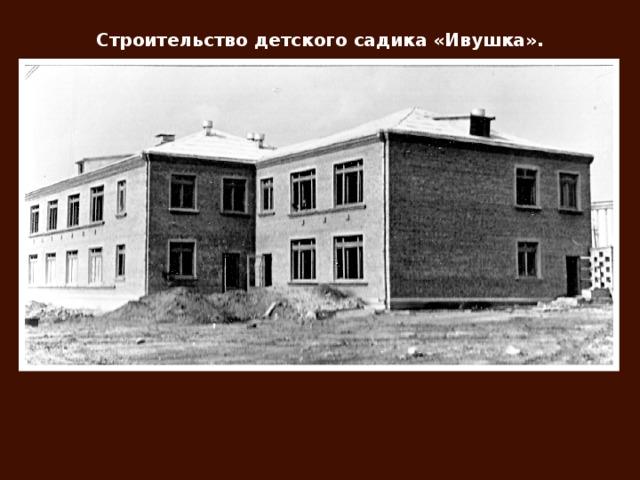 Строительство детского садика «Ивушка».