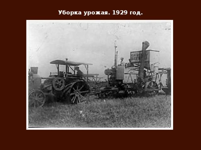 Уборка урожая. 1929 год.