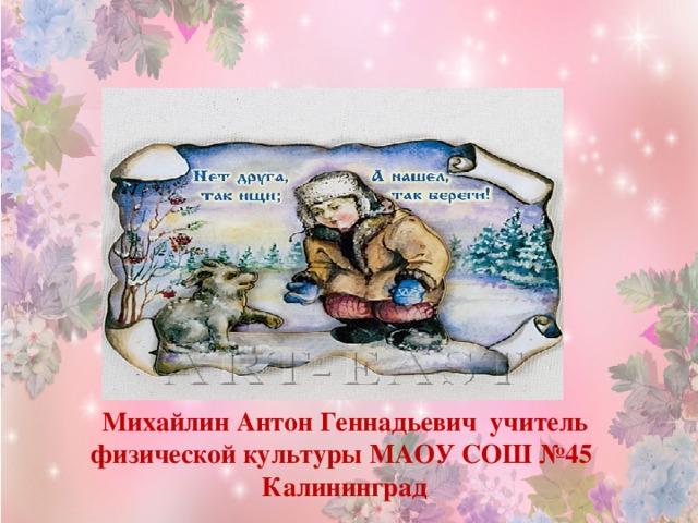 Михайлин Антон Геннадьевич учитель физической культуры МАОУ СОШ №45 Калининград