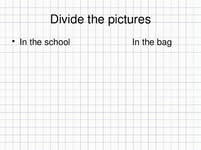 Divide the pictures