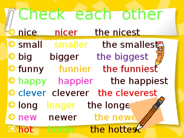Check each other