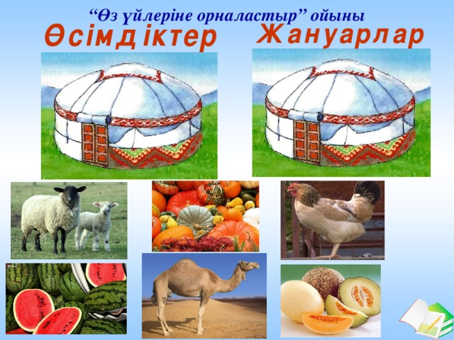 """"""" Өз үйлеріне орналастыр"""" ойыны"""