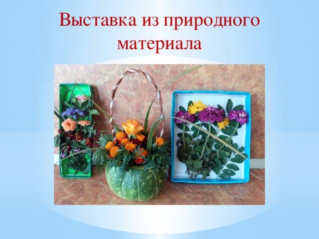 Выставка из природного материала