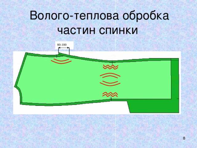 Волого-теплова обробка частин спинки  80-100
