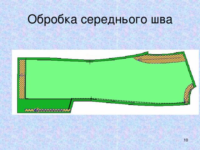 Обробка середнього шва