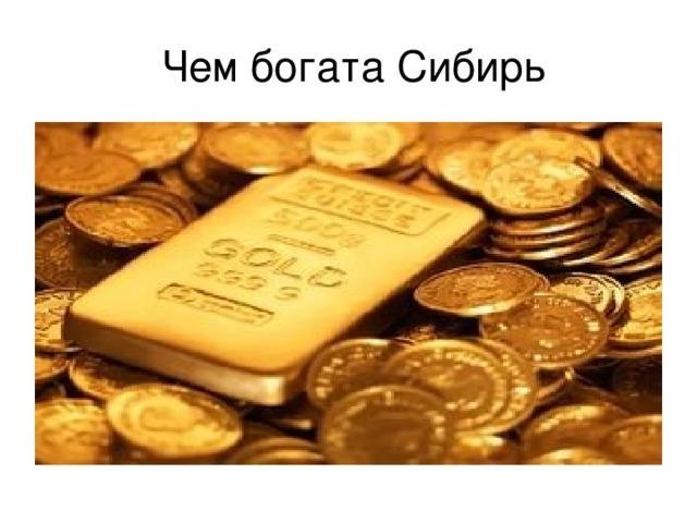 Чем богата Сибирь