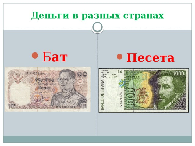 Деньги в разных странах