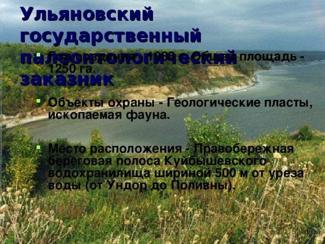 Ульяновский государственный палеонтологический заказник