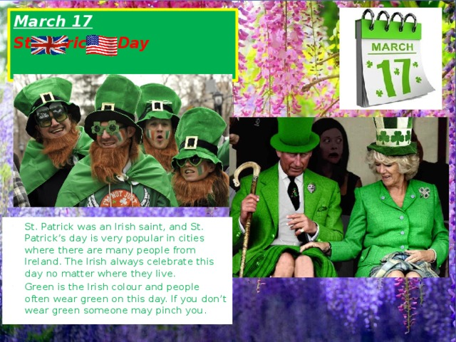 March 17  St.Patrick's Day