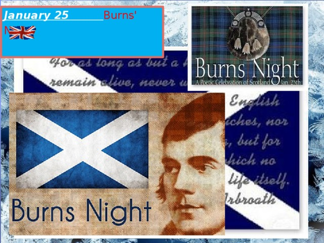 January 25 Burns' Night
