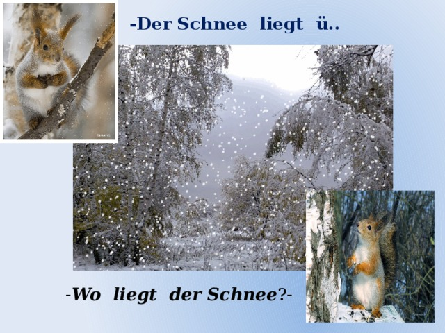 -Der Schnee liegt ü.. - Wo liegt der Schnee ?-