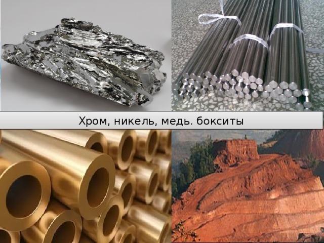 Хром, никель, медь. бокситы