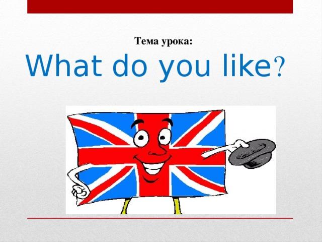 Тема урока: What do you like ?
