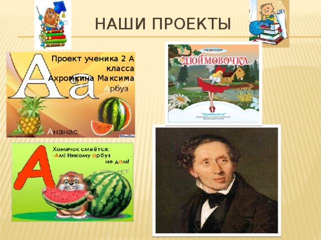 Наши проекты Проект ученика 2 А класса Ахромкина Максима