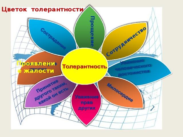 Сотрудничество Цветок толерантности Прощение Проявление жалости
