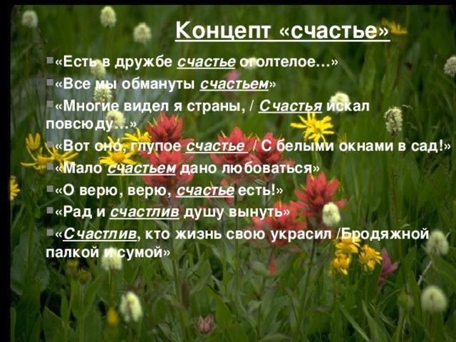 Концепт «счастье»