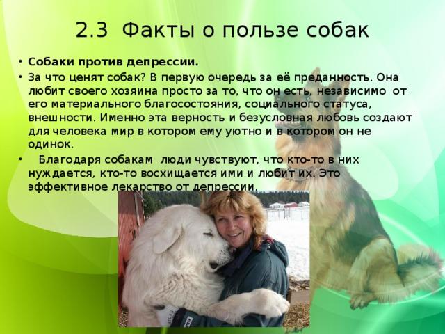 2.3 Факты о пользе собак