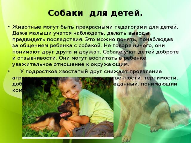 Собаки для детей.