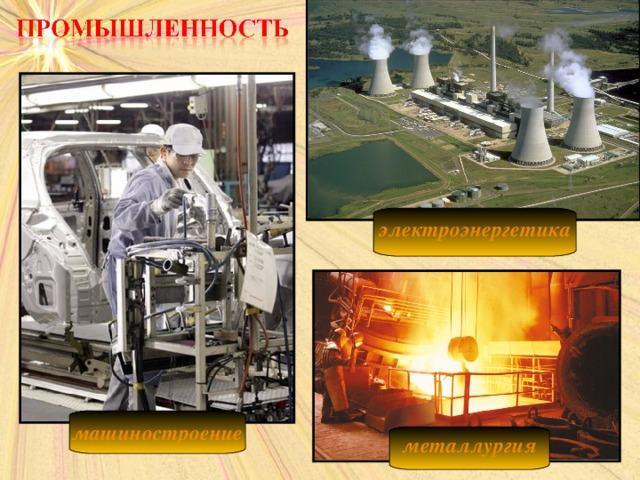 электроэнергетика  машиностроение  металлургия