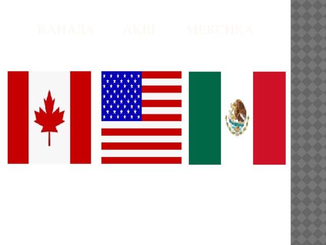 Канада АҚШ Мексика