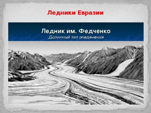 Ледники Евразии