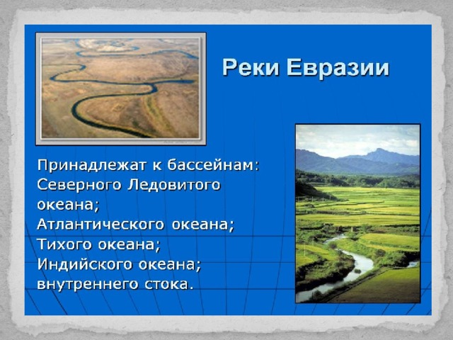 Внутренние воды евразии доклад 9708
