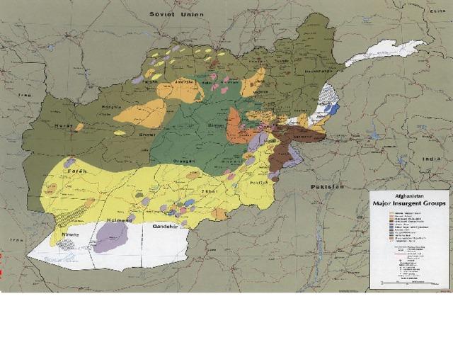 Деректер бойынша Ауғанстан оппозиция күштері, қыркүйек 1985 жыл.