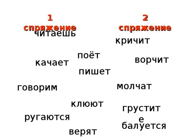 сравниваем личные окончания глаголов принадлежащих к разным спряжениям 4 класс пнш презентация