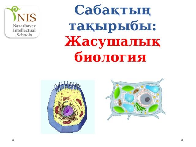Сабақтың тақырыбы: Жасушалық биология