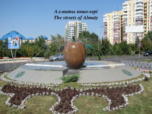 Алматы көшелері  The streets of Almaty