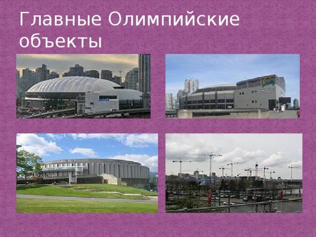 Главные Олимпийские объекты