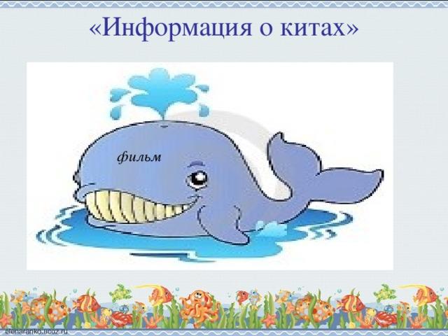 «Информация о китах» фильм