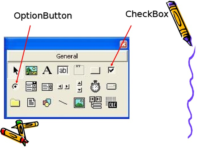 CheckBox OptionButton