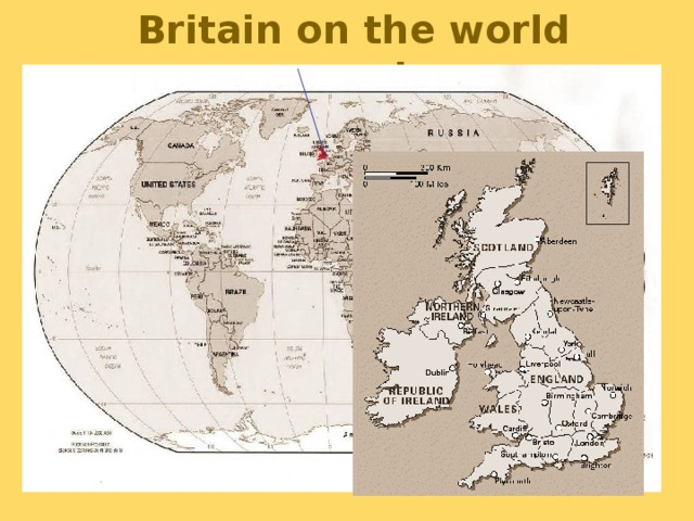 Britain on the world map!