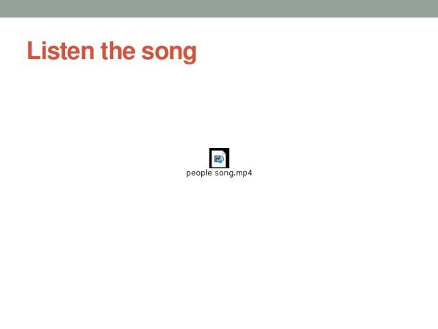 Listen the song