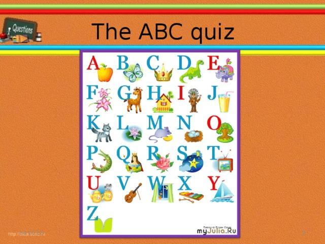 The ABC quiz 04.10.16