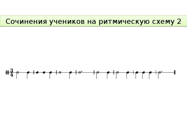Сочинения учеников на ритмическую схему 2