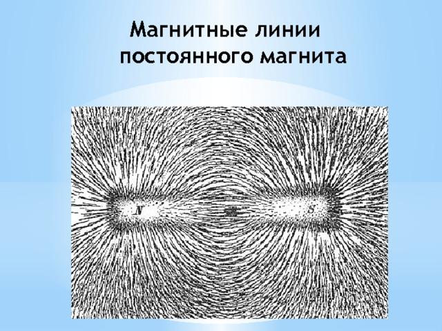 Магнитные линии постоянного магнита