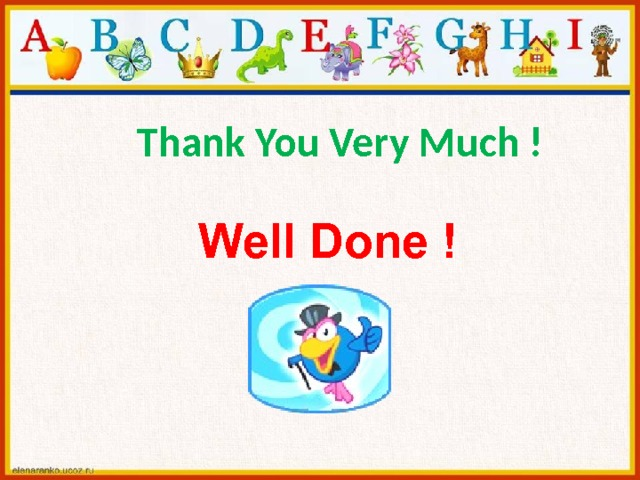 Thank You Very Much !  Well Done !
