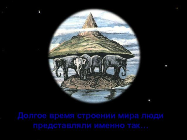 Долгое время строении мира люди представляли именно так…