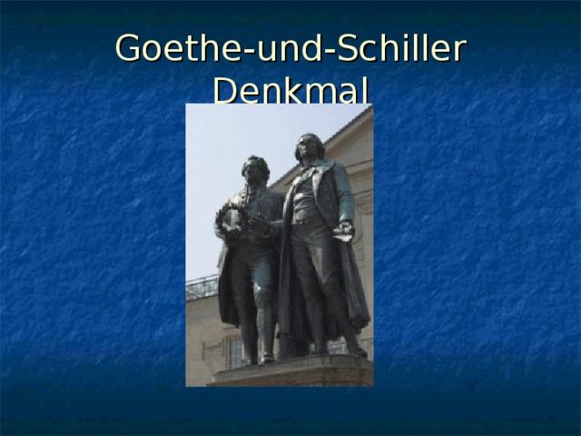 Goethe-und-Schiller Denkmal