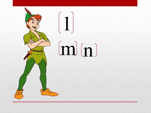 l m n