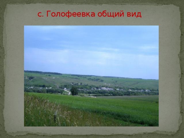 с. Голофеевка общий вид