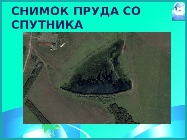 Снимок пруда со спутника