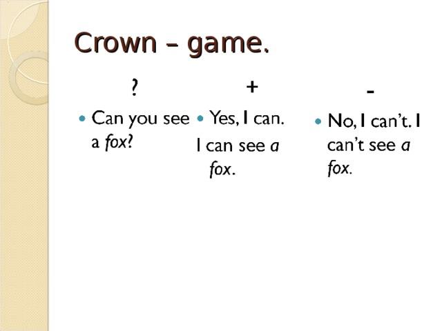 Crown – game.
