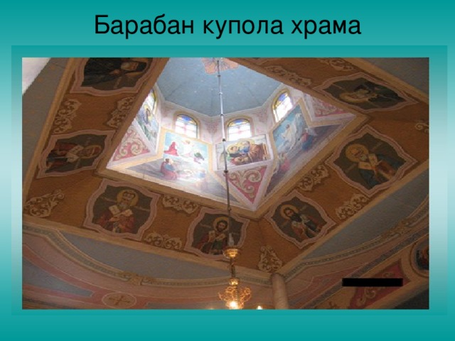 Барабан купола храма